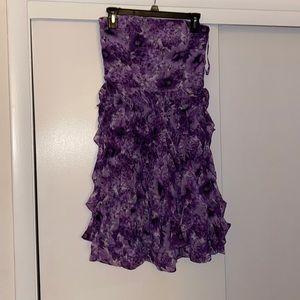 BHWM purple off the shoulder frilly dress